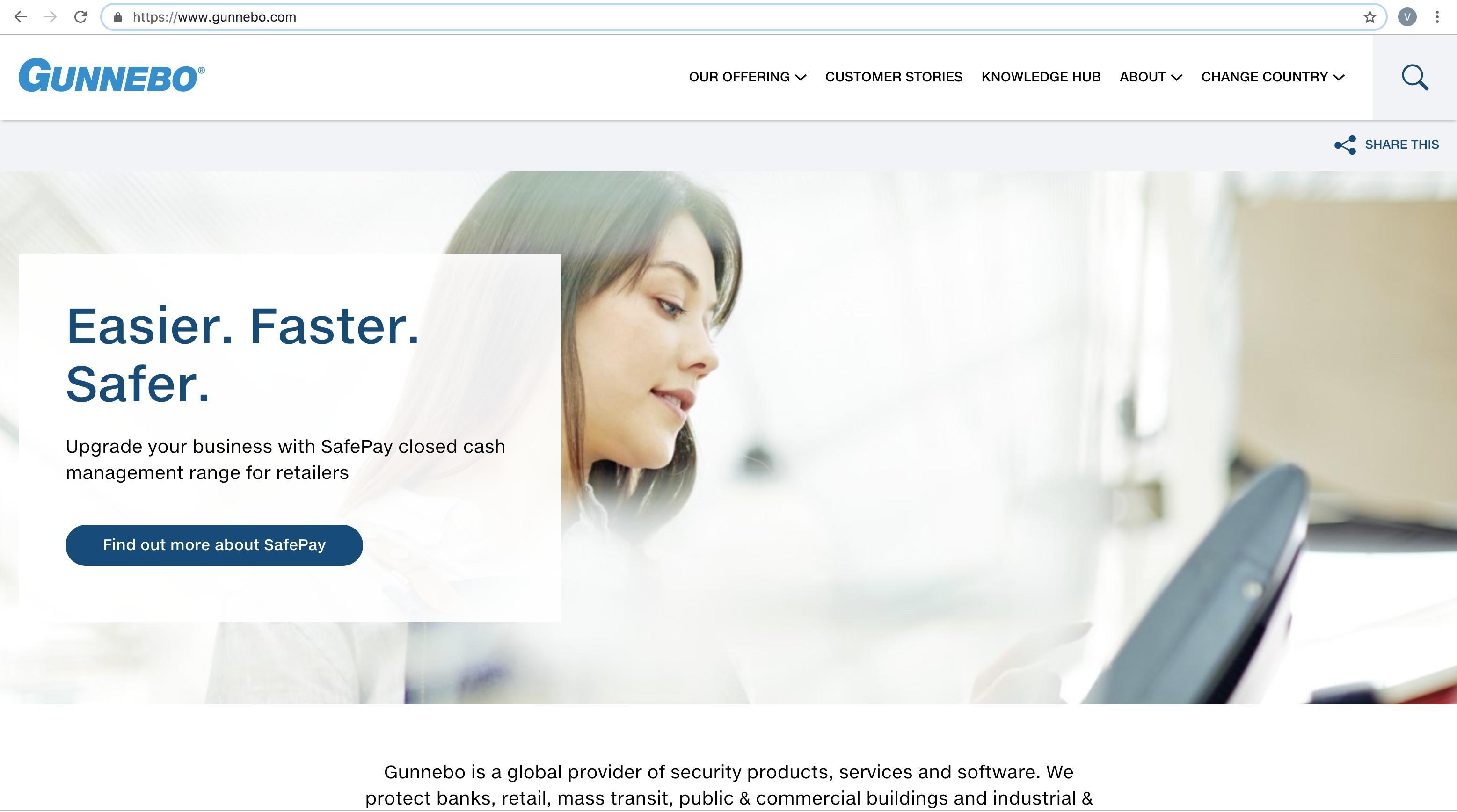 Gunnebo-website-screenshot